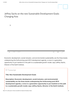 Economic development, social inclusion, and environmental