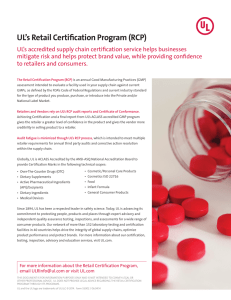 UL`s Retail Certification Program (RCP) - Services