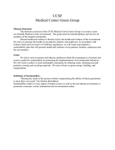 UCSF Medical Center Green Group