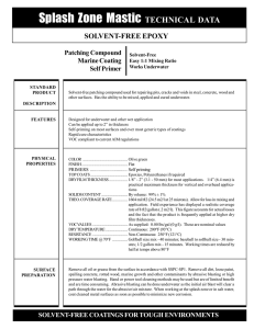 Splash Zone A-788 data sheet - Progressive Epoxy Polymers, Inc.