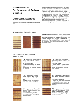 Assessment of Performance of Carbon Brushes Commutator