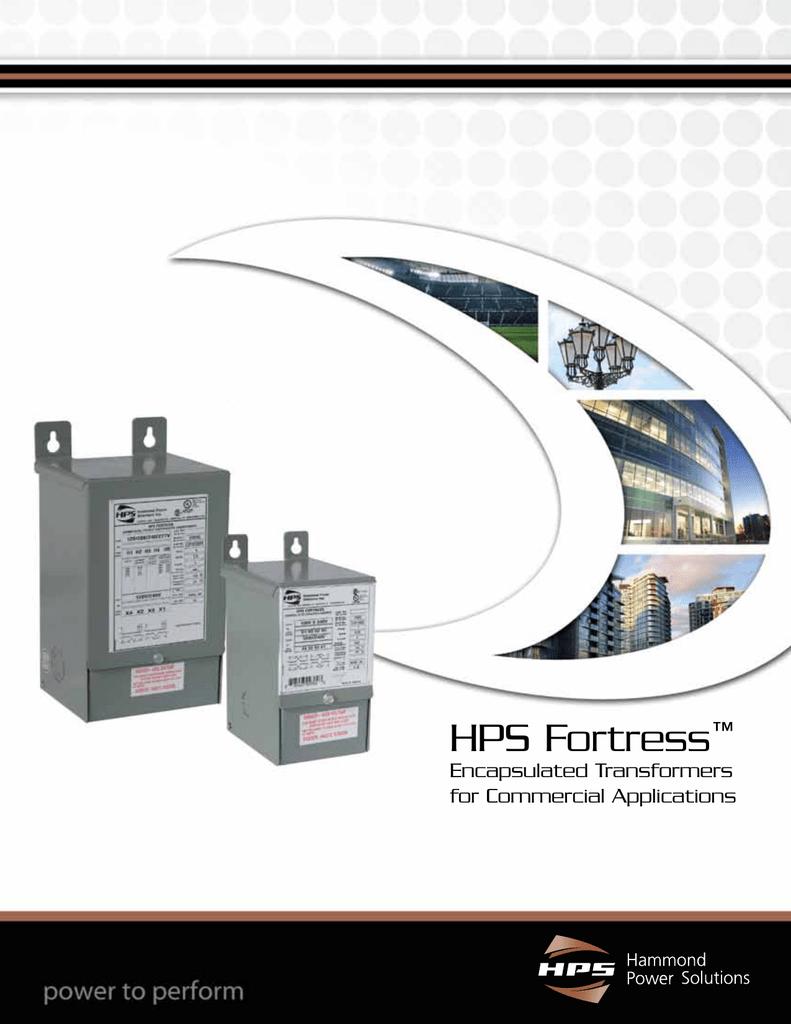 Hps Fortress Brochure Hammond Power Solutions Transformer Wiring Diagram