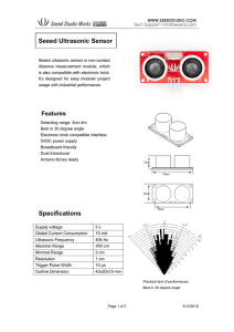 Seeed Ultrasonic Sensor Specifications