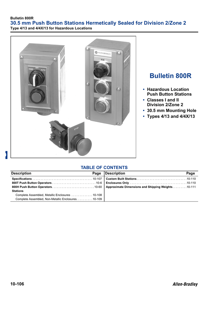 10 - Push ons - Allen  Wiring Diagram T Switches on