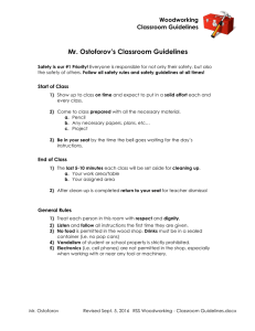Mr. Ostoforov`s Classroom Guidelines - RSS Wood