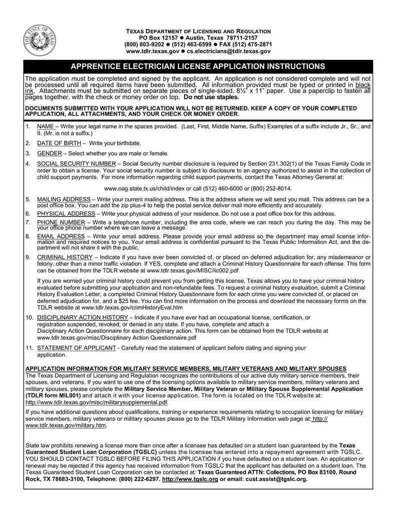 ELC001 Apprentice Electrician License Application.pub