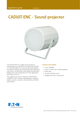 CAD10T-ENC - Sound projector