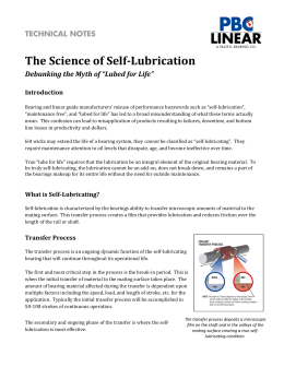 The Science of Self-Lubrication