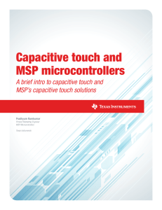 Capacitive Touch and MSP Microcontrollers