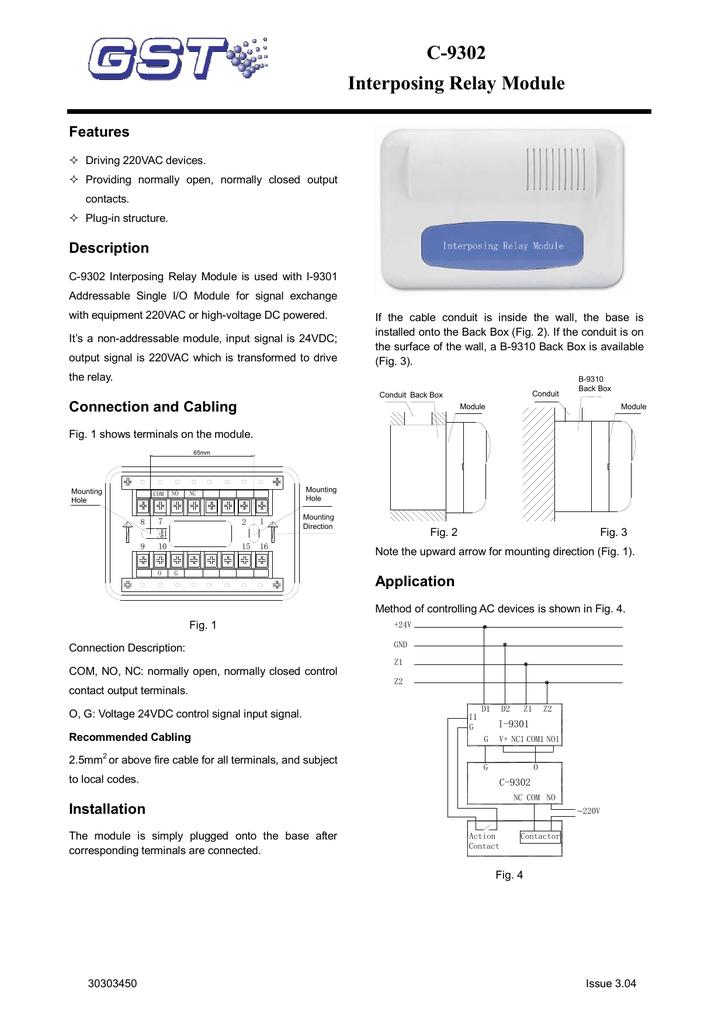 c 9302 interposing relay module  interposing relay wiring diagram #50