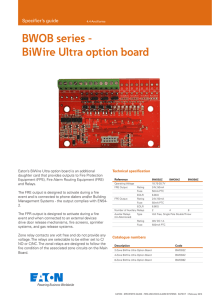 BWOB series - BiWire Ultra option board