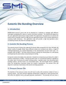 Eutectic Die Bonding Overview - Silicon Microstructures, Inc.