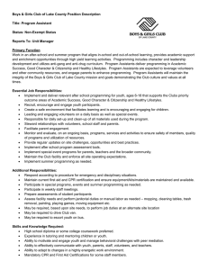 Program Assistant - Boys and Girls Club of Lake County