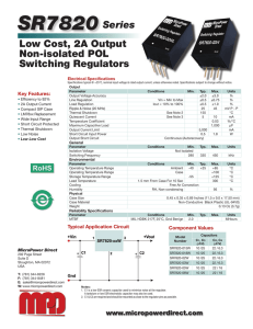 SR7820 Datasheet - Micropower Direct