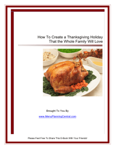How To Create a Thanksgiving Holiday That the Whole Family Will