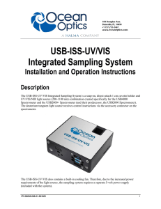 USB-ISS-UV/VIS Installation and Operation Instructions