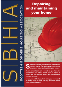 SBHA Repairing and Maintaining your Home Leaflet