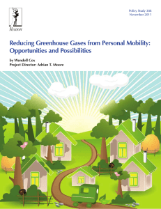 Reducing Greenhouse Gases from Personal Mobility