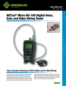 NETcat® Micro NC-100 Digital Voice, Data and