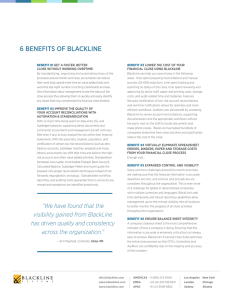 6 BENEFITS OF BLACKLINE