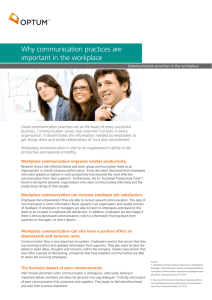 Why communication practices are important in the workplace