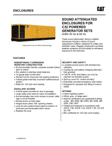 sound attenuated enclosures for c32 powered generator sets