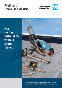 Flat roofing installation without naked flames FireSmart® Flame Free