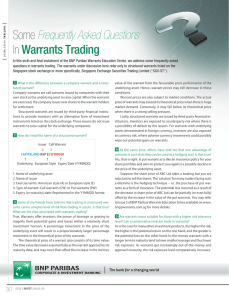 Some Frequently Asked Questions In Warrants Trading