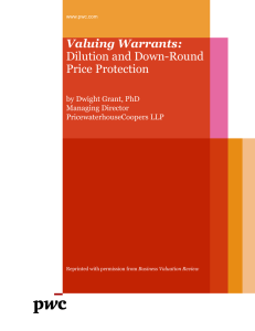 Valuing Warrants: Dilution and Down-Round Price Protection
