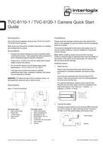TVC-6110-1 / TVC-6120-1 Camera Quick Start Guide