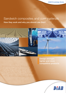 Sandwich composites and core materials