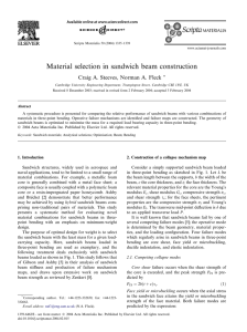 Material selection in sandwich beam construction