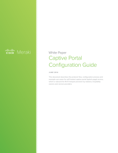 Captive Portal Configuration Guide