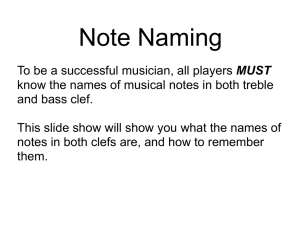 Note Naming in treble and bass clef File