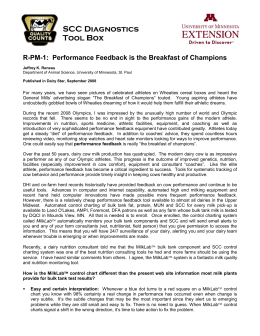 R-PM-1: Performance Feedback is the Breakfast of
