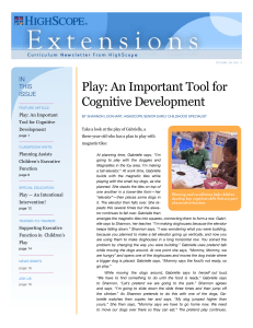 Play: An Important Tool for Cognitive Development
