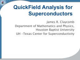 QuickField Analysis for Superconductors