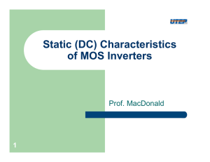 Static (DC) Characteristics of MOS Inverters