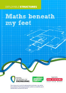 Maths beneath my feet - Royal Academy of Engineering