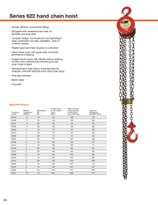 Series 622 hand chain hoist - CM-ET