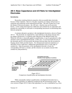 AN 4--Base Capacitance and A/D Ratio for Interdigitated