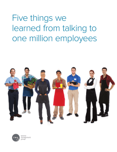 Five things we learned from talking to one million employees