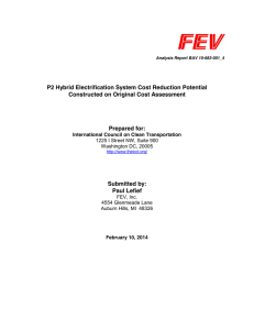 P2 Hybrid Electrification System Cost Reduction