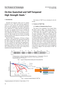 On-line Quenched and Self-Tempered High Strength Steels
