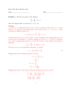 Math 32A Quiz 8B Solution Name: SID: Problem 1. Find the two
