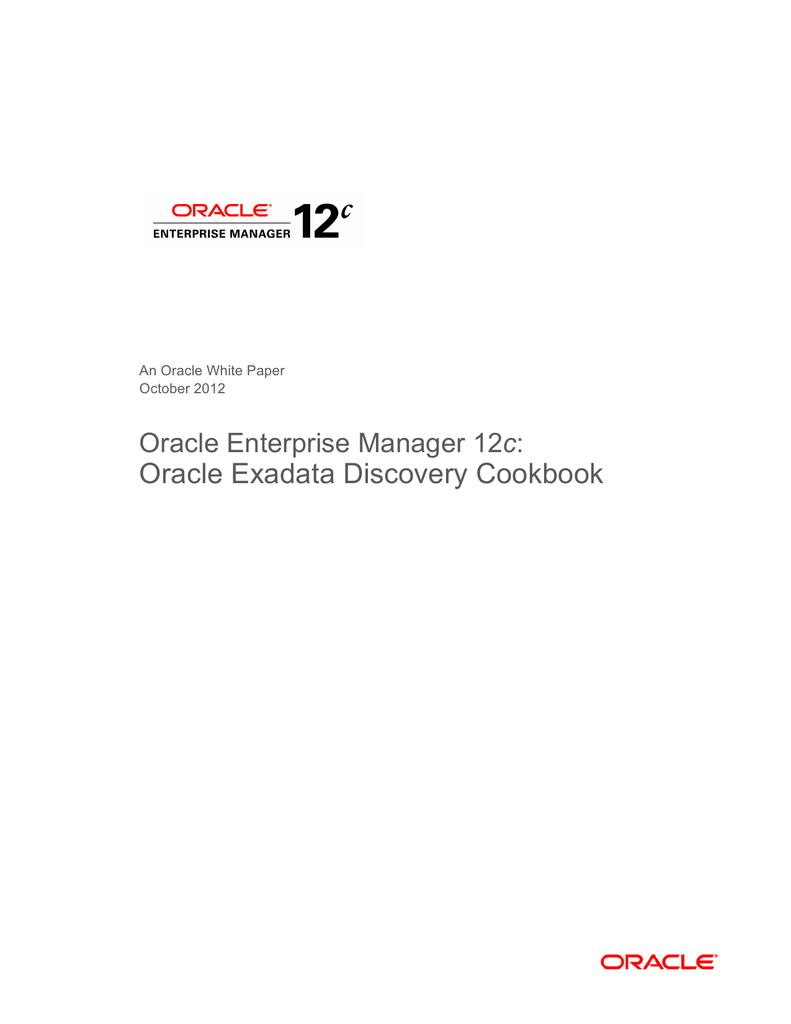 Exadata Discovery Cookbook