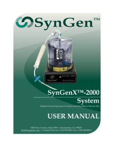 SynGenX™-2000 System USER MANUAL