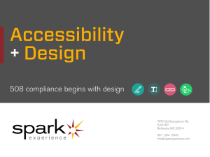 Accessibility and Design SPARK