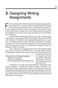 3 Designing Writing Assignments