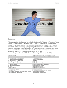 Crowther`s Tenth Martini - University of Washington